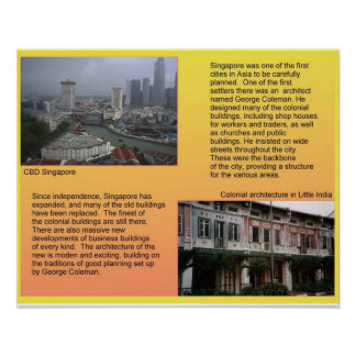 History, Architecture in Singapore Poster