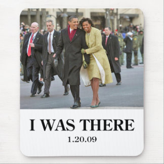HISTORY: Barack and Michelle Obama at Inauguration Mouse Pad