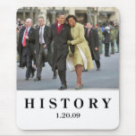 HISTORY: Barack and Michelle Obama Inauguration Mouse Mat