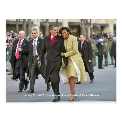 HISTORY: Barack and Michelle Obama Inauguration Post Card