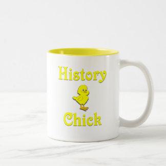 History Chick Two-Tone Mug