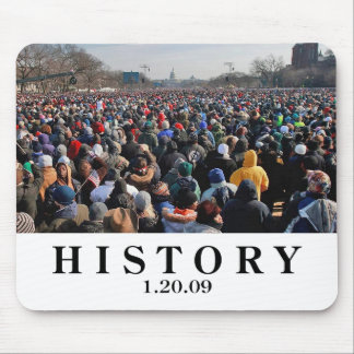 HISTORY: Crowd at Obama Inauguration Mouse Pad