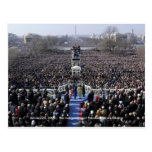 HISTORY: Crowd at Obama's Inauguration Postcard