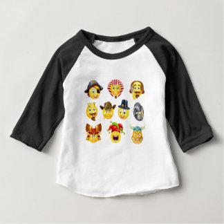 History Emoji Emoticon Set Baby T-Shirt