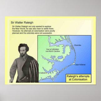 History,  Explorers, Sir Walter Raleigh Print