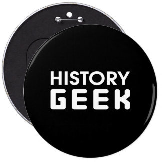 History Geek 6 Cm Round Badge
