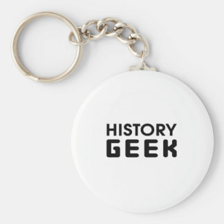 History Geek Basic Round Button Key Ring