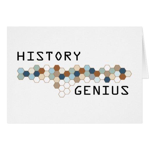 History Genius Greeting Cards