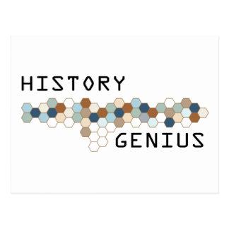 History Genius Postcard