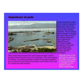 History, Geography,  Importance of ports Postcard