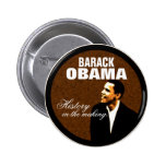 History in the making pinback buttons