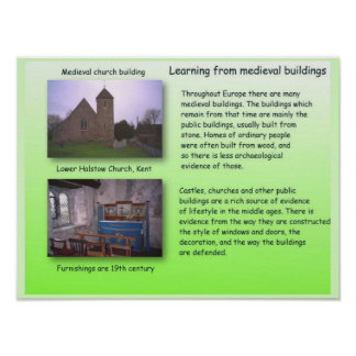 History,  Learning from medieval buildings Poster