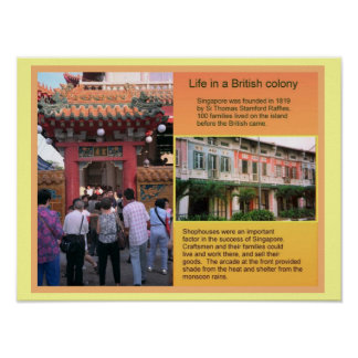 History,  Life in a British Colony Poster