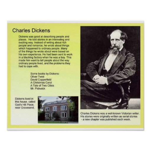 History, Literature, Dickens, Charles Dickens Poster   Zazzle