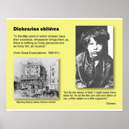 History, Literature, Dickens, Dickensian children Poster