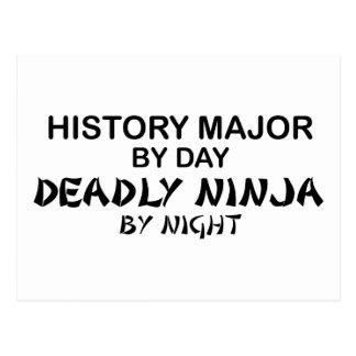 History Major Deadly Ninja Postcard