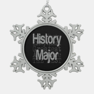 History Major Extraordinaire Snowflake Pewter Christmas Ornament