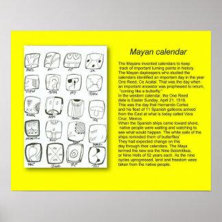 History, Mayans, Calandar Poster