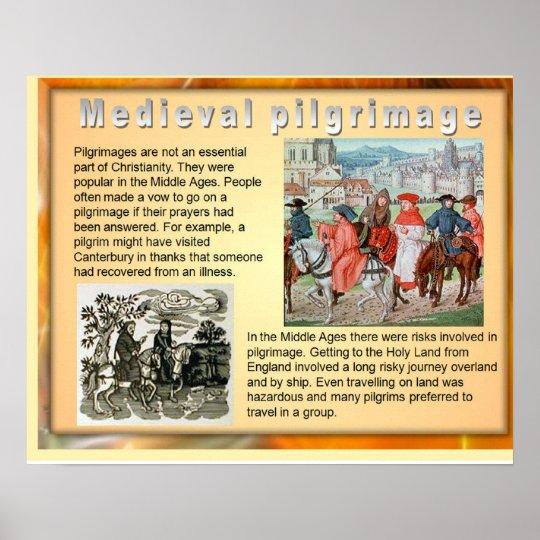 History, Mediaeval Pilgrimage Poster