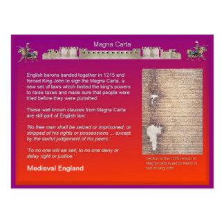 History Medieval England Magna Carta Postcards