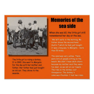 History, Memories of the seaside in 1949 Poster