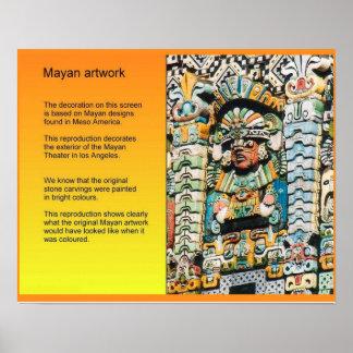 History Meso'America, Mayan art Poster