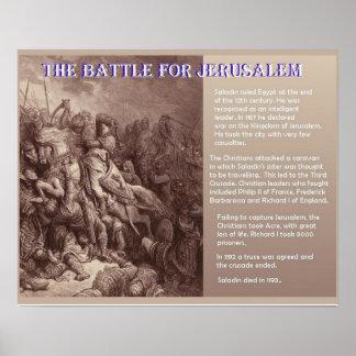 History, Middle Ages, Battle for Jerusalem Print