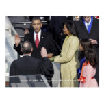 HISTORY: Obama Family at Inauguration Ceremony Post Cards