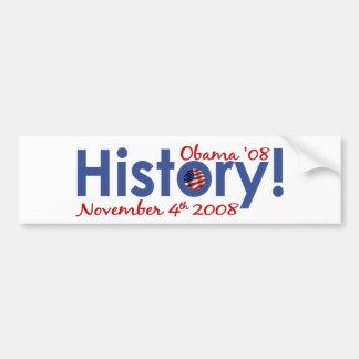 History Obama Wins 2008 Bumper Sticker