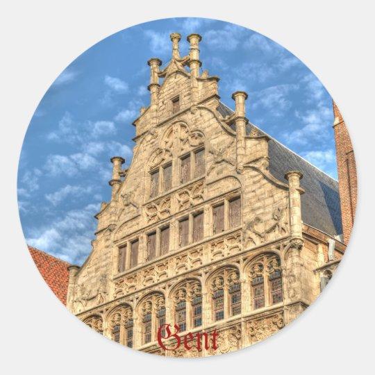 History of architecture - Gent Round Sticker
