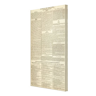 History of Greece Chronology Canvas Print