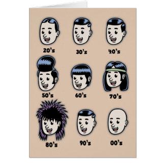 History of Mens Hair Greeting Card