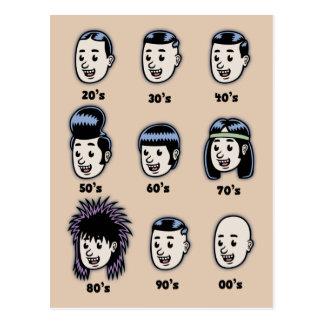 History of Mens Hair Postcards