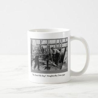 History Of Oil Drilling, Roughnecks Basic White Mug