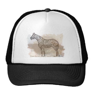History of the American Quarter Horse in Typograph Trucker Hat