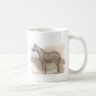 History of the American Quarter Horse in Typograph Mug