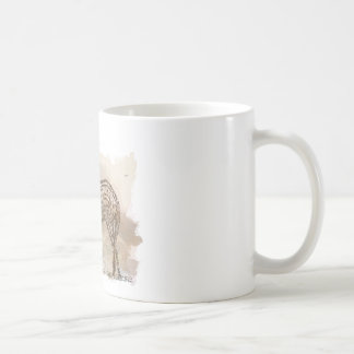 History of the American Quarter Horse in Typograph Coffee Mug