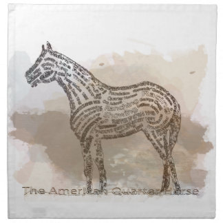 History of the American Quarter Horse in Typograph Napkins