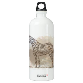 History of the American Quarter Horse in Typograph SIGG Traveller 1.0L Water Bottle