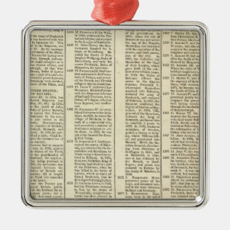 History of the Electoral Houses of Germany Christmas Ornament