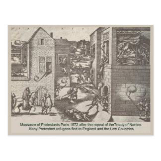 History,  Paris, Massacre of Protestants 1572 Postcard