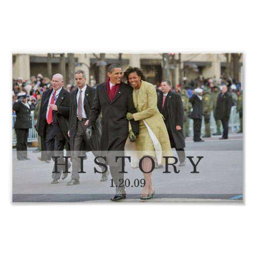 HISTORY: President and Mrs. Obama at Inauguration Poster