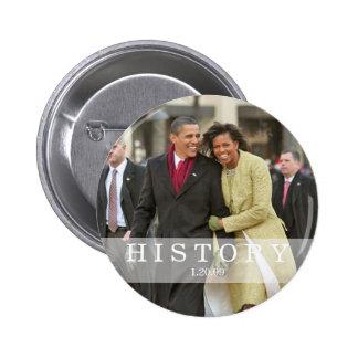 HISTORY: President Barack and Michelle Obama 6 Cm Round Badge
