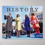 HISTORY: President Obama Inauguration Ceremony Poster