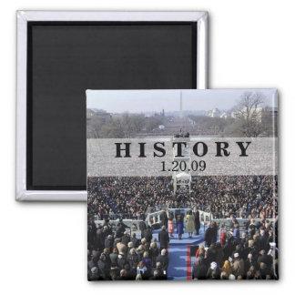 HISTORY President Obama Inauguration Refrigerator Magnet