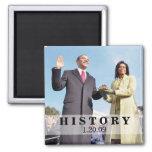 HISTORY: President Obama Inauguration Square Magnet