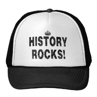 HISTORY ROCKS!   (Distressed-look) Cap