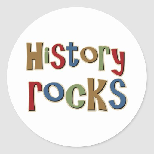 History Rocks Stickers