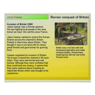History, Romans, Invasion of Britain Poster