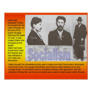History, Russia, politics Socialism Poster